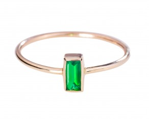 Aer Deco emerald ring