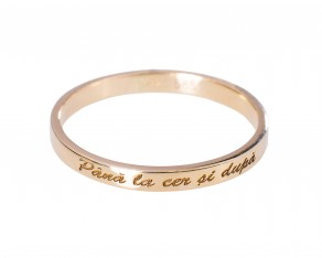 "Message ring ""Pana la cer si dupa"