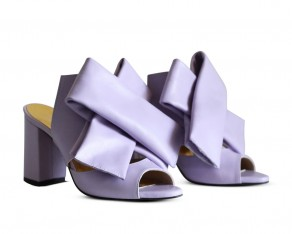 Bow mules lilac
