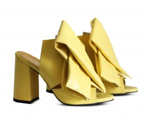 Bow mules yellow