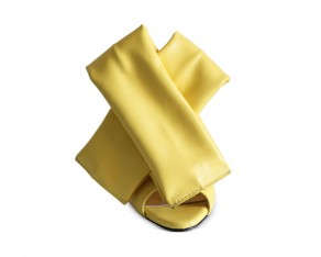 Bow mules yellow front view
