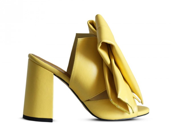 Bow mules yellow side view