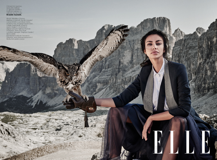 ELLE Octombrie 2015 Cover story cu Madalina Ghenea